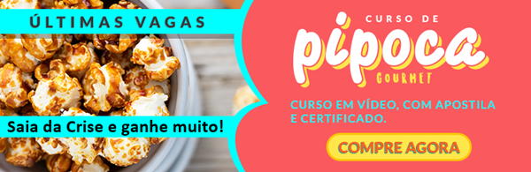 Curso de pipoca gourmet banner